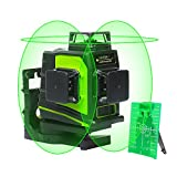 Huepar 3D Green Self-Leveling Laser Level - 3x360 Cross Line 45m/150ft Three Plane