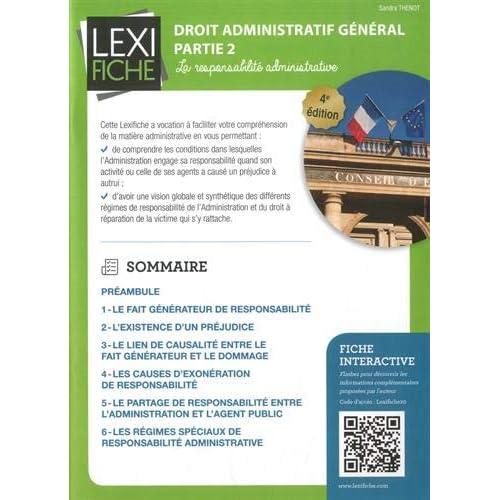 Droit administratif général partie 2 : La responsabilité administrative