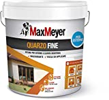 Maxmeyer 165025L580001 Pittura per Esterno Quarzo Fine Bianco 14 L