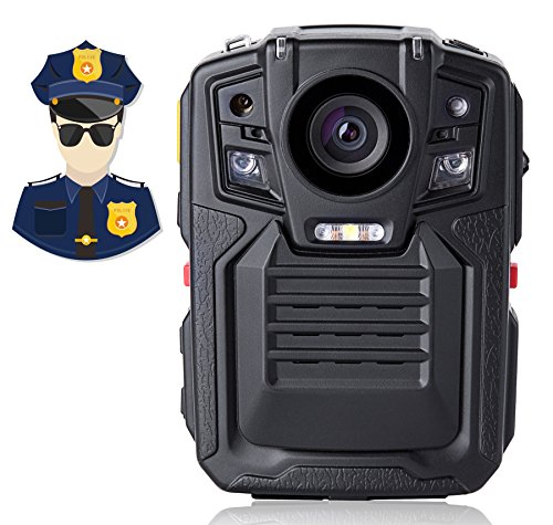 Best Angin-Tech Infrared Night Vision HD 1080P Police Body Worn Video Camera Security IR Cam Built In GPS Support Motion Detection (02 Camera 32G-KIT2)
