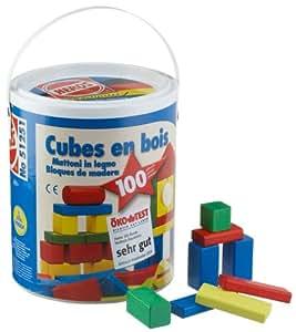 Heros - 51251 - 1Er Age - Sceau de 100 Cubes de Construction en Bois