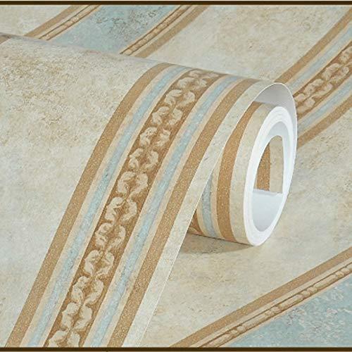 SQBZ Amerikanische Landblume und Vogelvliesstoffe Garten Wandtapete Retro Wohnzimmer Sofa TV Hintergrund Wand blaue Tapete Import, zwanzigtausend und fünfzig, nur Tapete