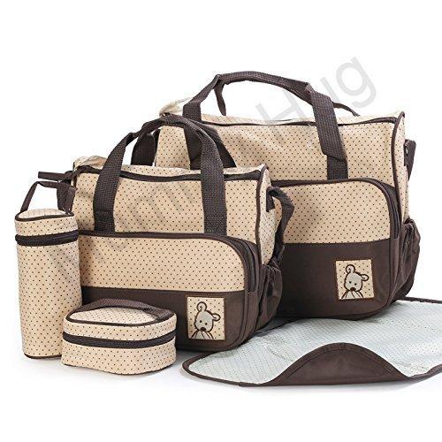 mummy-hugr-multi-function-baby-diaper-nappy-bag-mummy-changing-set-handbag-brown