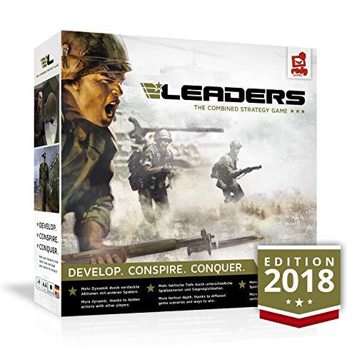 LEADERS - the Combined Strategy Game von rudy games - spannendes Brettspiel mit App Unterstützung ab 13+ I Strategiespiel Gesellschaftsspiel Kriegsspiel Gemeinschaftsspiel Board Game Tabletop Spiel