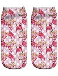 GSYDWZZH 5pcs Calcetines 3D Calcetines de impresión Digital en 3D Flamingo Ebay impresión señoras Calcetines