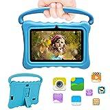 Duoduogo - Tabletas táctiles para niños de 7,0 Pulgadas HD 1024 x 600 WiFi Android 6.0 Quad Core Tablet PC 2 GB RAM 32 GB/64 GB batería 4000 mAh con Control Parental Bluetooth Doble cámara G3
