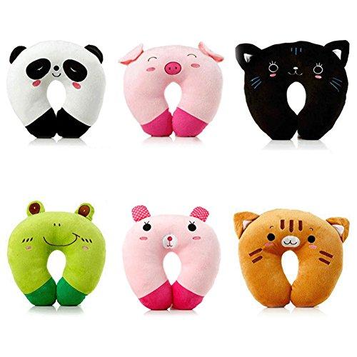 Cuscino Collo Da Viaggio Tiger.Gezichta Cuscino Da Viaggio A Forma Di U Collo Cuscino Relax Cartoon Animal Style Per Auto Home Office Resto Cuscino Poggiatesta Pink Pig Style 1