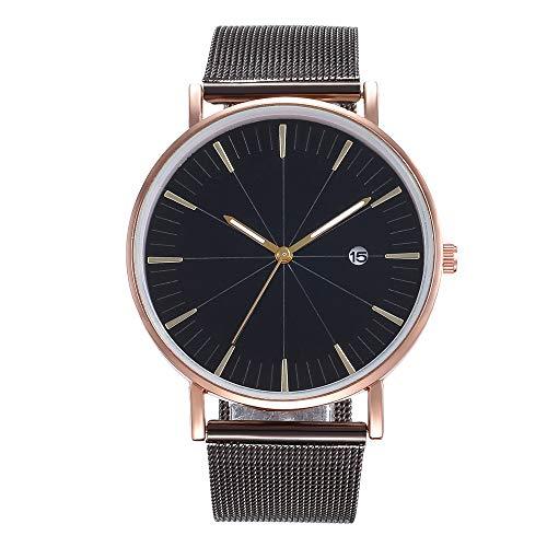 YEARNLY Damen Herren Uhren,Einfaches Quarz Uhr Geschäftsnetzwerk mit Einer Beiläufigen Herrenquarzuhr Runden Fall Leaders Damen Quarzuhr Uhren Damen Sale Uhren Damen Silber Uhren -