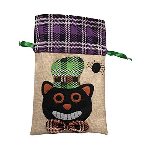HEALIFTY Halloween-Geschenk Trick behandeln Halloween-Goodie-Taschen-Partei-Dekor-schwarze Katzen-Muster