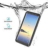 Étui étanche Housse Coque pour Samsung Galaxy Note 8 Outdoor Sport Case Étui de Cellulaire Pleine Sealed IP68 Anti-choc Neige Imperméable Preuve Anti-poussière Waterproof Sous-marine étuis Cover (Bleu)
