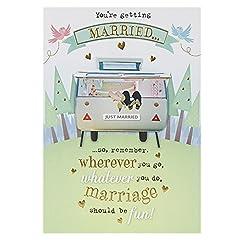 Idea Regalo - Hallmark, biglietto di auguri per matrimonio, con scritta