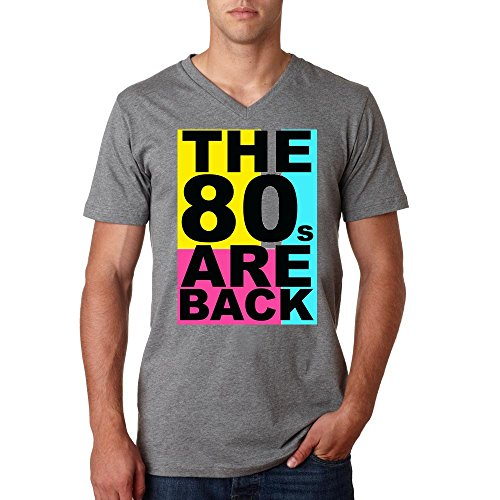 The 80s are back funny logo Men's V-Neck Tee