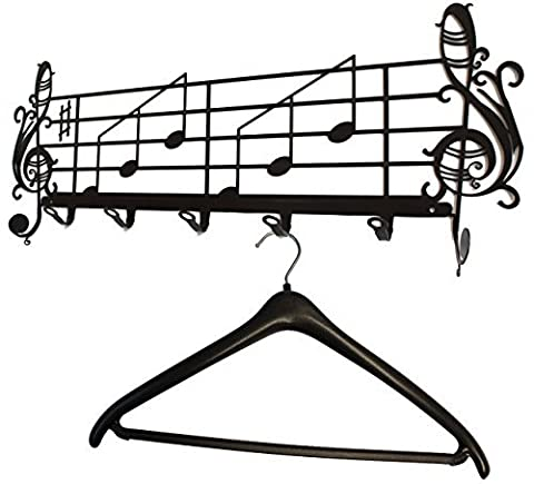 Porte - manteau mural * note de musique * Patère porte manteaux