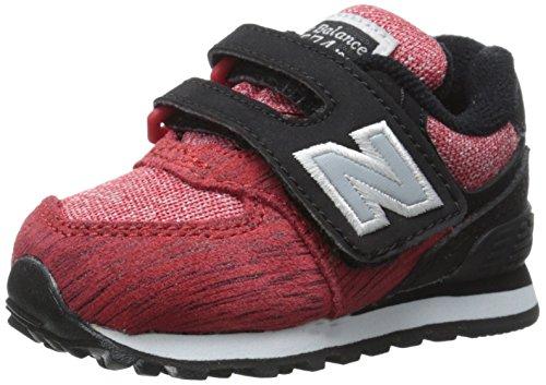 New Balance KG574 (INFANT) Unisex Baby Lauflernschuhe Black/Red/Textile