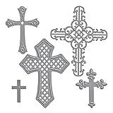 Spellbinders SBS5-093 Kreuze Zwei, Metall, braun, 25.3 x 13.1 x 1 cm