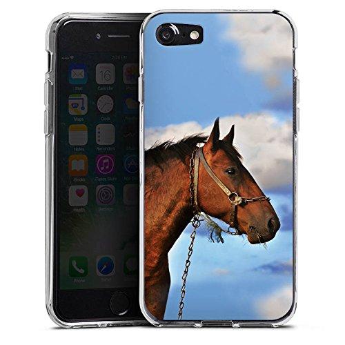 Apple iPhone X Silikon Hülle Case Schutzhülle Pferd Hengst Stute Silikon Case transparent