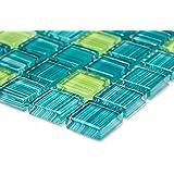 Carrelage Cuisine Carrelage mosaïque Bain Carré Crystal Vert Cuisine 8mm neuf # 141
