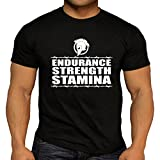 DesignDivil Quality Men's Spartan Endurance Training Workout T-Shirt. Weightlifting Gym Kettlebell (Large)