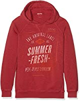 Pepe Jeans Boy's Rowan Hoodie, Red (Cardinal Red), 16 Years (Manufacturer size: 16)