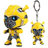 Bumblebee rimovibile portachiavi trasformatore ornamenti bambola regalo giocattolo da collezione (64 * 40mm)