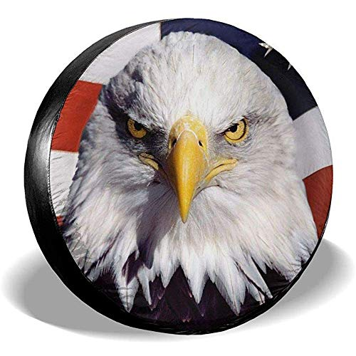 Hiram Cotton Spare Tire Cover Eagles Flag Copertura Ruota di Scorta Copertura Pneumatici Fuoristrada velocità Estrema Overdrive Univers