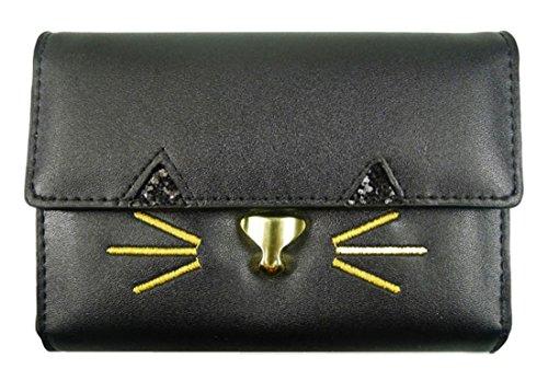 Kukubird Kitty Fascino Borsa Breve Prom Partito Pochette Portafoglio Black