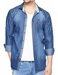 Fasnoya Lafantar Men's Casual Shirt (Blue)