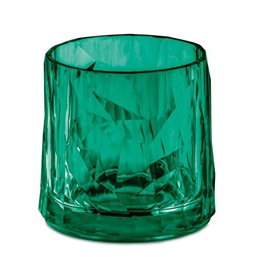 koziol 3402650 Club N ° 2 en verre de 250 ml, Superglas, Transparent Vert émeraude