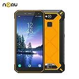 Robuste Smartphone Débloqués,IP68 Nomu S50 Pro International Débloqué 5.72 Pouces FHD Android 8.1 4G LTE Dual Sim 4G RAM 64 ROM 8.0MP + 16.0MP Caméra Double pour la Randonnée à Ski X Sport (Orange)