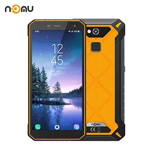 Nomu S50 Pro Outdoor Handy, IP68 International Entsperrt 5,72 Zoll FHD Android 8.1 4G LTE Dual-SIM 4G RAM 64 ROM 8,0MP + 16,0MP Dual-Kamera für Wandern Skiing X Sport (Orange)