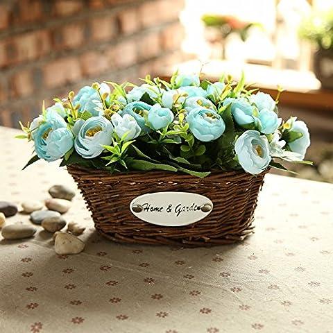 KXZZY Home decorazioni ornamenti floreali di emulazione Kit , Mini ellisse in vaso piccolo di cofani + Dolce Cuore di (stimato)