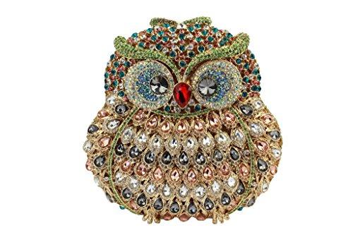 Pochette Da Sposa A Forma Di Gufo Da Donna Yilongsheng Con Cristalli Colorati Multicolor 02