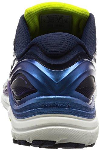 Brooks Damen Transcend 4 Laufschuhe Blau (Peacoat/iridesium/lime Punch)