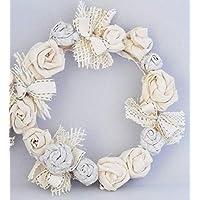 Blumenkranz handgearbeitetes Unikat Tischdeko Türkranz Wandkranz