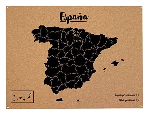 Miss Wood Mapa de España de Corcho
