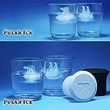 Polar cubitos de hielo bandejas moldes para whisky Scotch potable y # xFF0C; Silicona Oso Polar y pingüino bandeja para cubitos de hielo bandejas