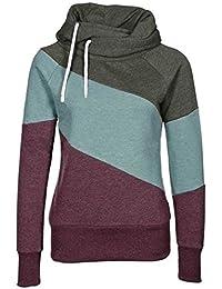 ASCHOEN - Sudadera para mujer, algodón, con capucha