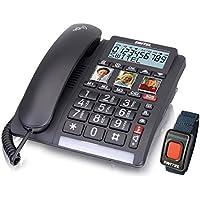 SWITEL TF560 Identificador de llamadas Negro - Teléfono (Altavoz, 99 entradas, Identificador de llamadas, Negro)