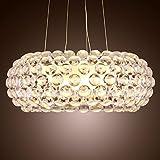 HEYUN& Lampada A Sospensione Moderna Lampada Di Diseño Foscarini Incluso Villa Sudadera Ion Kappa Ball Dome Iluminación Moda [Clase energética A ++] (tamaño : 50CM)