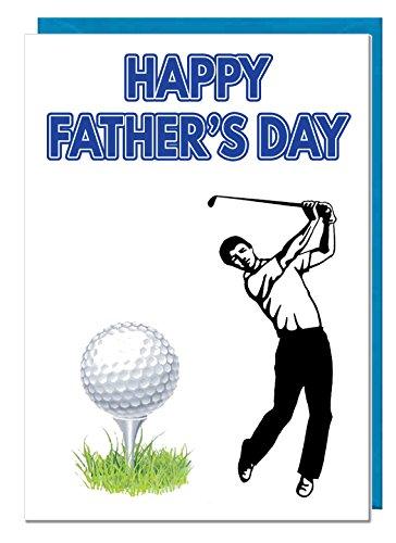 Vatertagskarte mit Golfmotiven, Happy Father's Day Opas Caddy