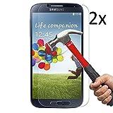 [2 Stück] CÄSAR-GLAS Panzerglas Schutzglas für Samsung Galaxy S4, Anti-Kratzen, Anti-Öl, Anti-Bläschen, 9H Echt Glas Panzerfolie Schutzfolie