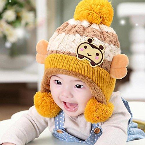 fc0196377c YINGER Sombrero de punto recién nacido Gorra Lindo diseño Invierno Calentar  Lana Unisexo