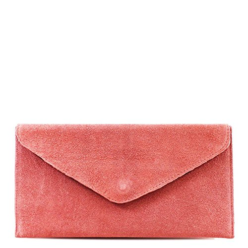 Hautefordiva, Damen Clutch Blau L Rose