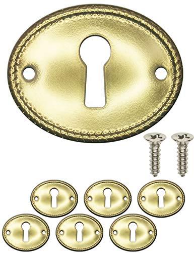 FUXXER® - 6 embellecedores para llaves antiguas, rosetas para cerradu