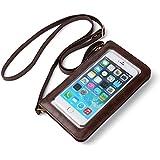 Vangoddy Handbag Brown With Touch Screen Pocket / Zipper Closure / Adjustable Shoulder Strap And Soft Interior Fabrics For Cat S31 / S41 / S65 (MB_CELLEA224_Cat)