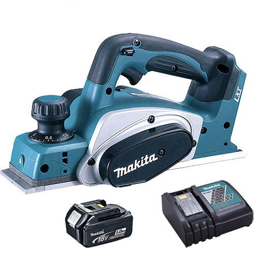 Makita DKP180Z LXT 18V Li-Ion Planer 82mm With 1 x 5.0Ah BL1850 Battery & DC18RC Charger