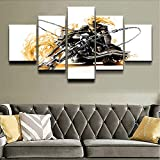 Wuwenw Modular Home Decorative Canvas Painting Hd Printed Picture Wall Art Framework 5 Panel ComicsLandscape Poster,4X6/8/10Inch,With Frame