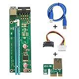 60cm USB 3.0 PCI-E 1x Riser Board Express zu 16x PCI-E Mining Machine Enhanced Extender Kartenadapter mit SATA 15 Pin-4 Pin Netzkabel