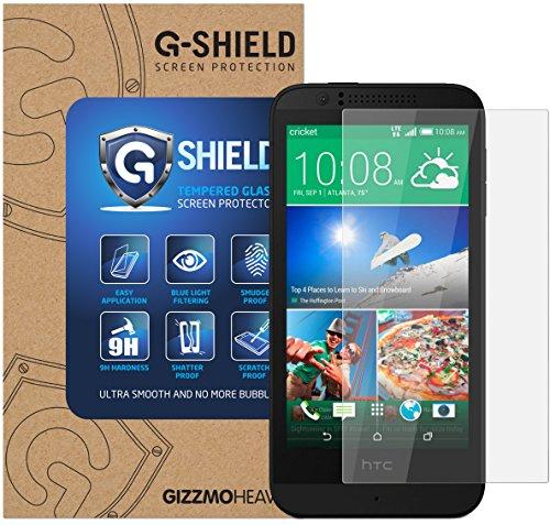 Htc Protector Screen 510 (HTC Desire 510 Schutzfolie Gehärtetem Glas Displayschutzfolie G-Shield Screen Protector Panzerglas Displayschutz Anti-Kratz Ultra Klar 9H Härte 0.33mm)