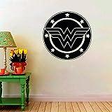 Mrhxly Logo Autocollant Super Woman Wall Symbol Teen - Filles Décoratif Mural Home Art Décor Intérieur Comics Fans Stickers 57 * 57Cm